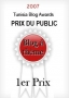 Blog Awards: Prix du public