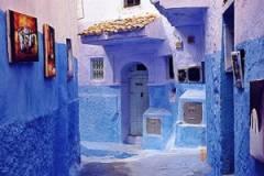 maroc,chefcouane,bleu prusse,atlas,montagne